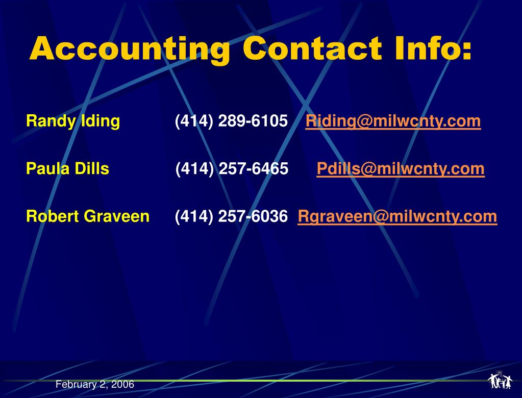 Accounting Contact Info: