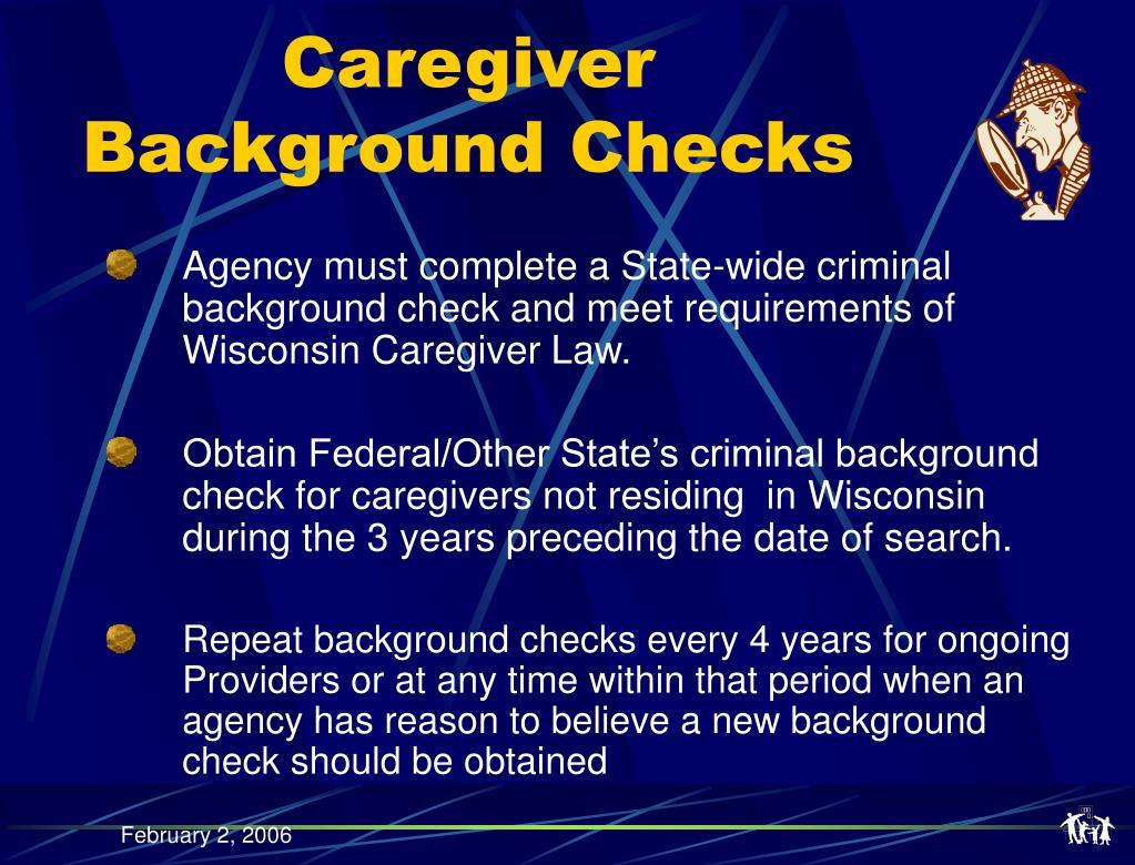 Caregiver Background Checks