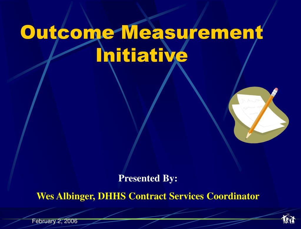 Outcome Measurement Initiative