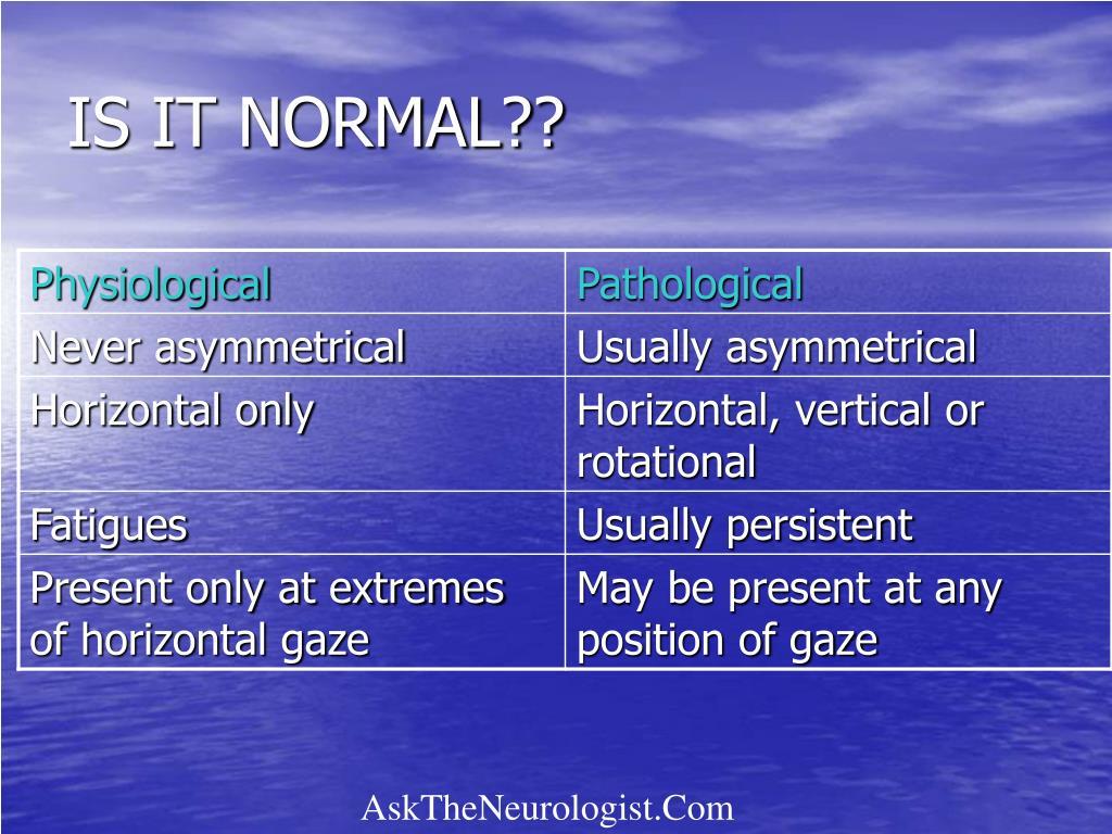 IS IT NORMAL??