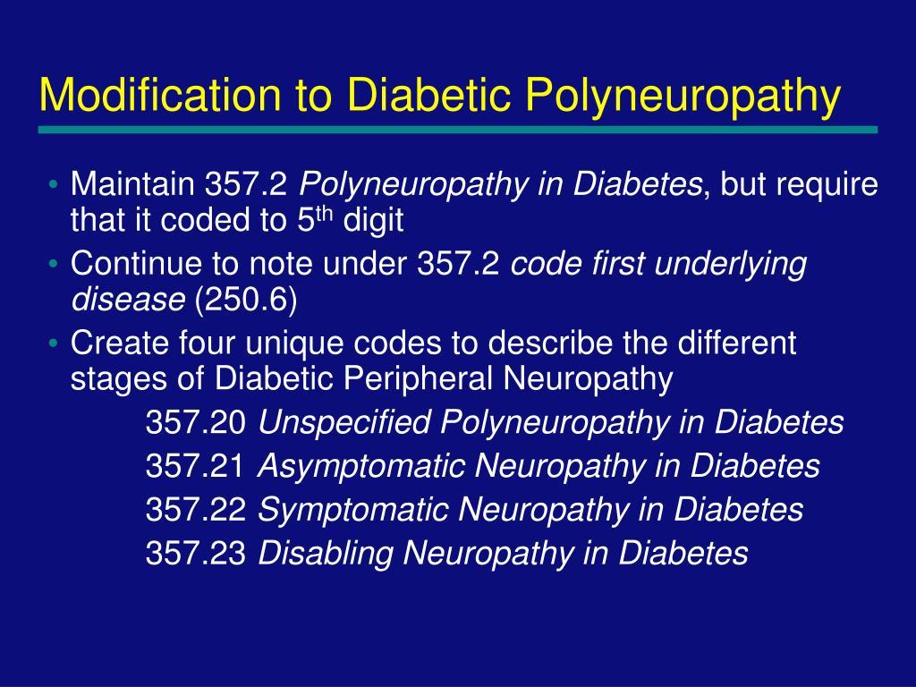 Modification to Diabetic Polyneuropathy