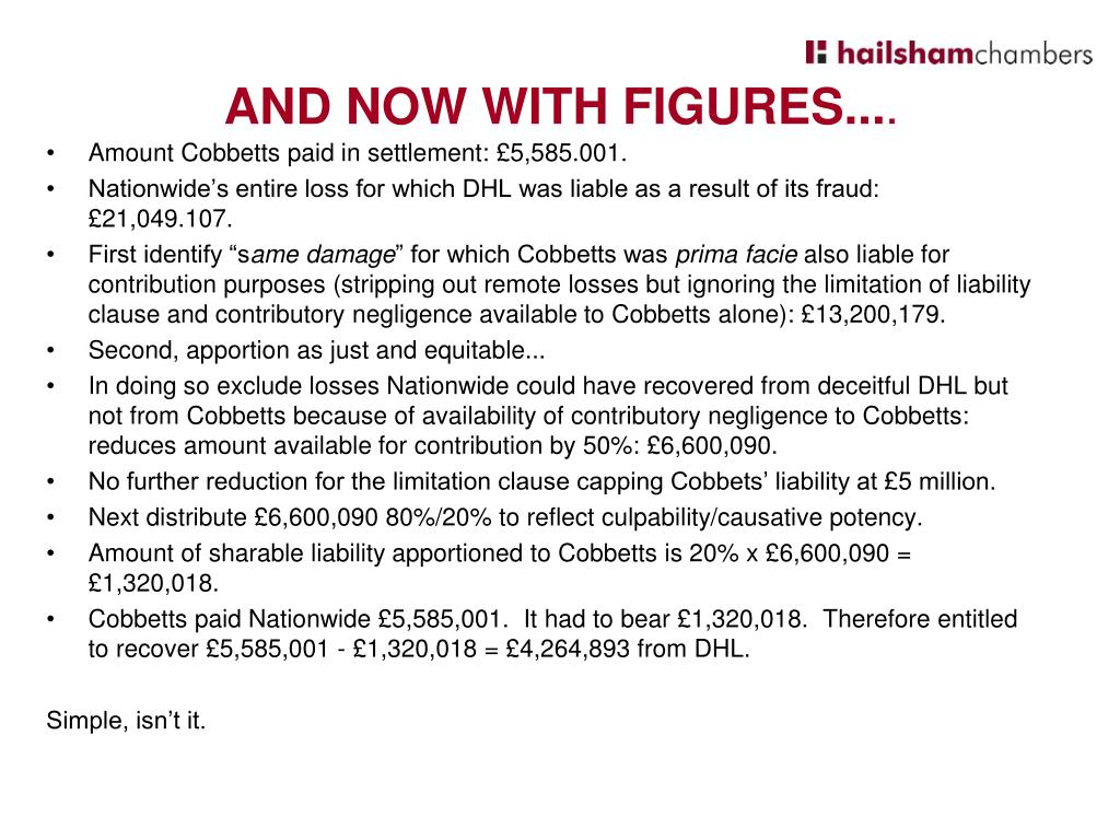 Amount Cobbetts paid in settlement: £5,585.001.