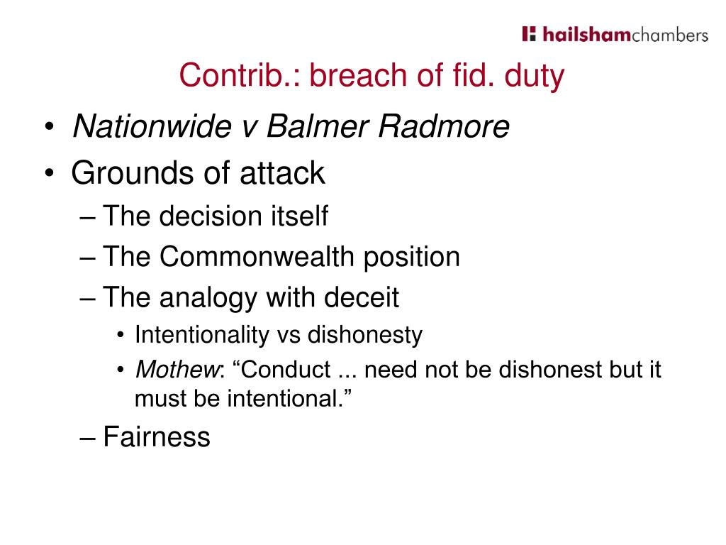 Nationwide v Balmer Radmore
