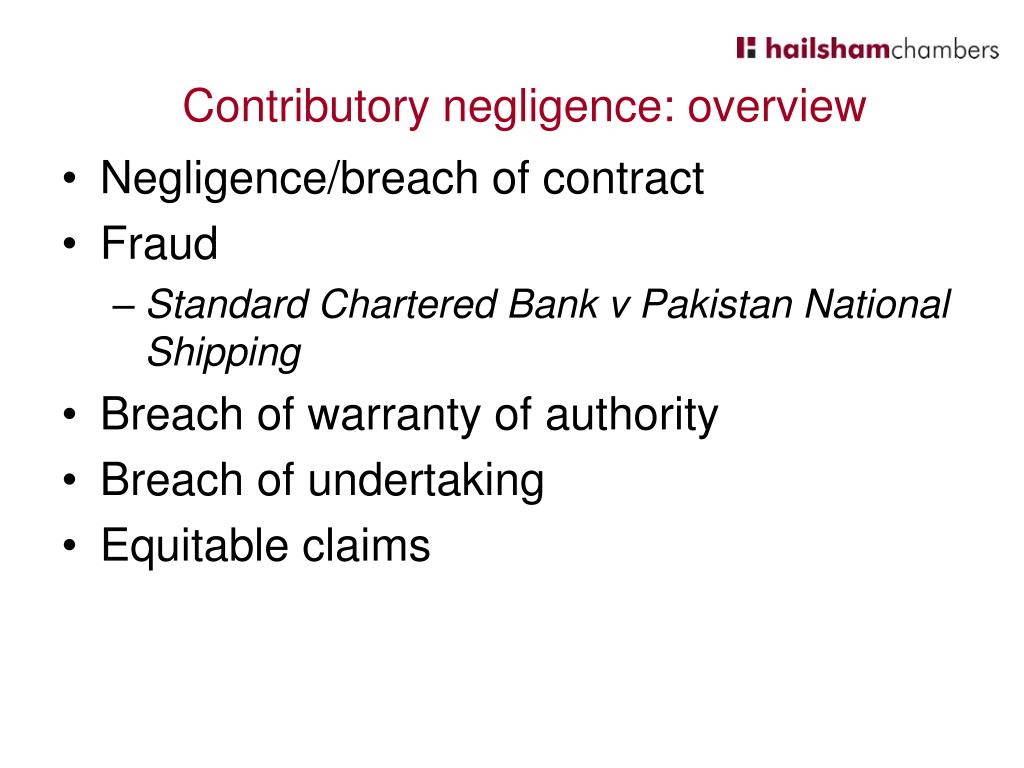 Negligence/breach of contract