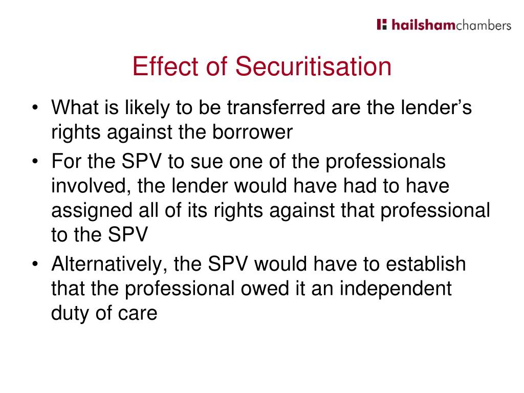 Effect of Securitisation