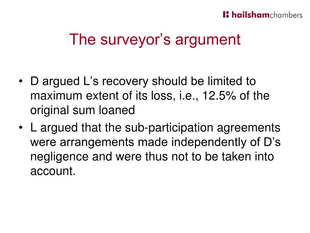 The surveyor's argument