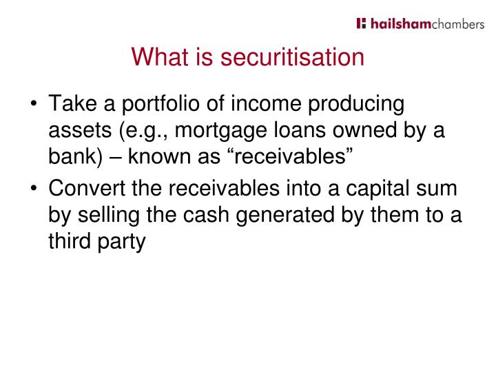 What is securitisation