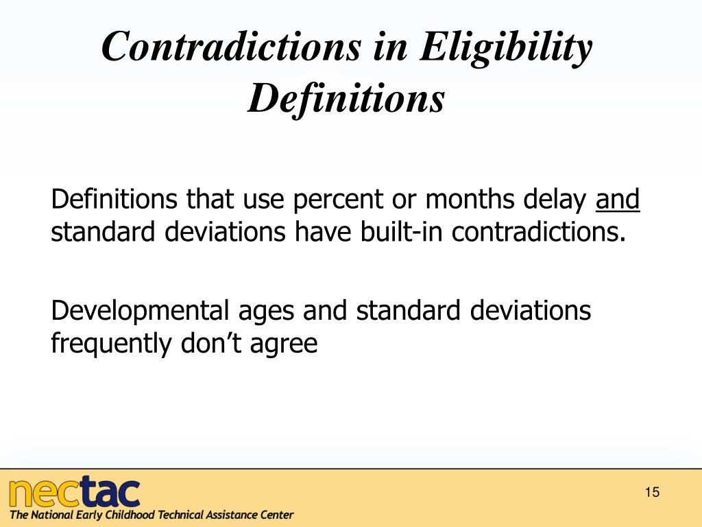 Contradictions in Eligibility Definitions