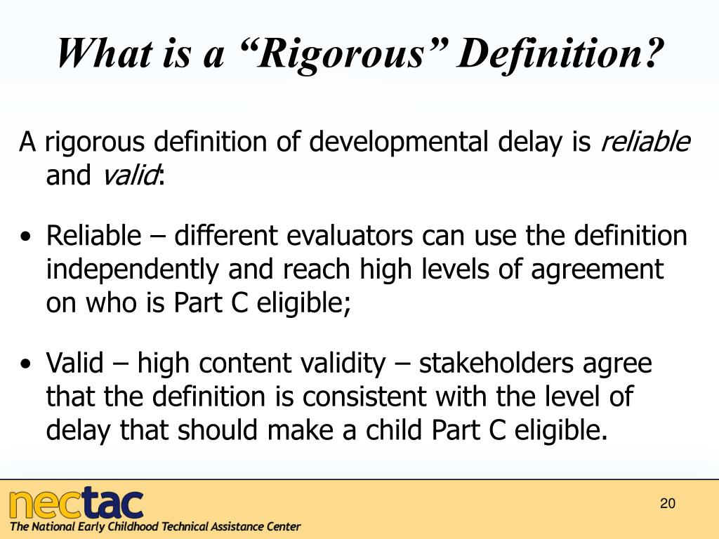 """What is a """"Rigorous"""" Definition?"""