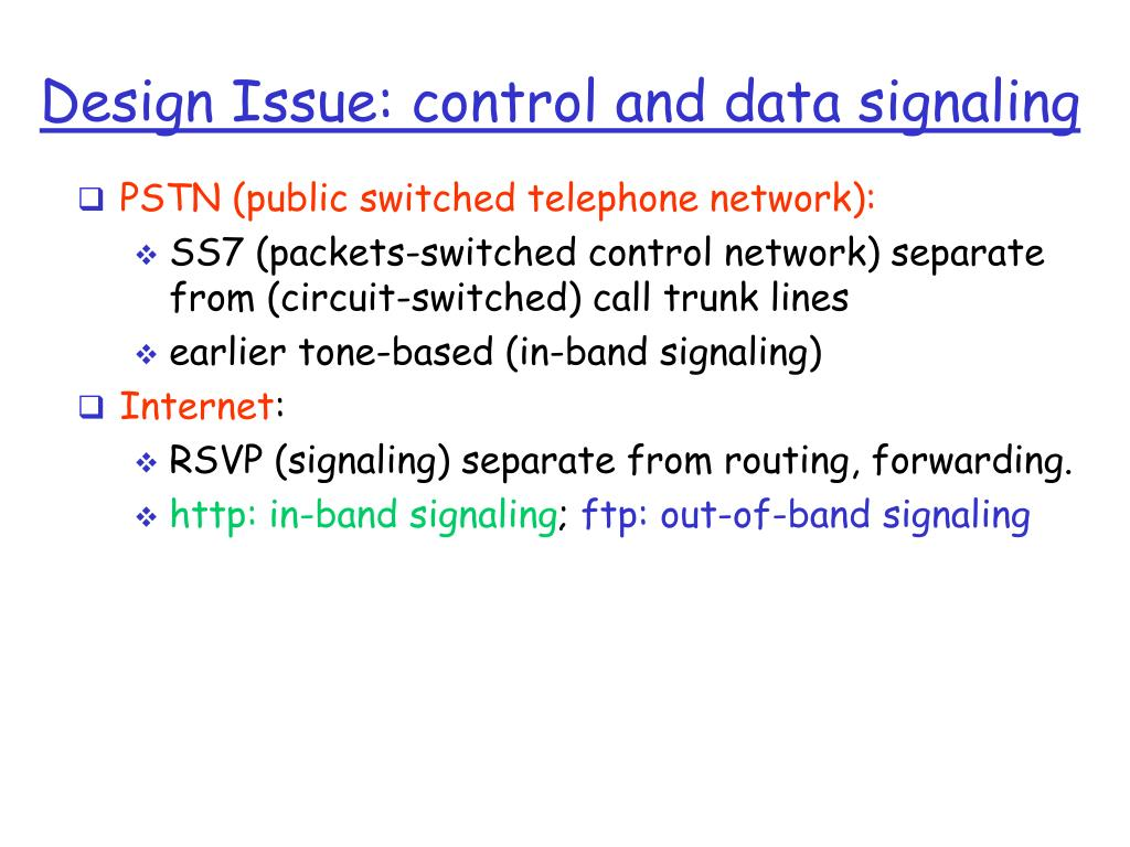 Design Issue: control and data signaling