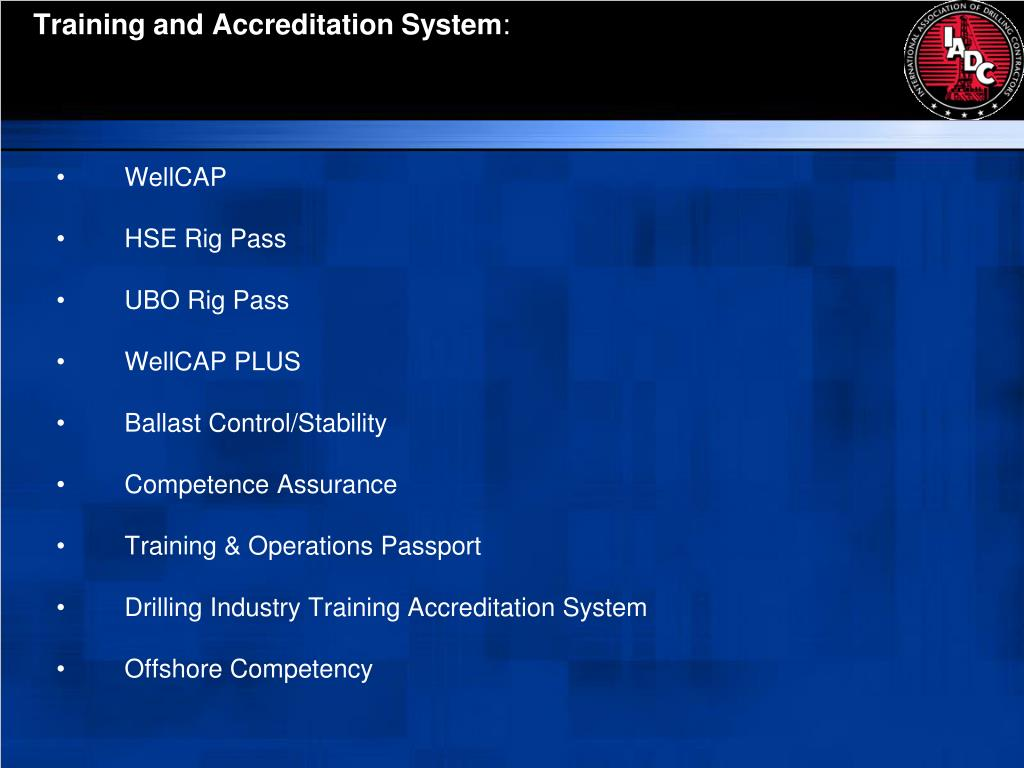 Training and Accreditation System