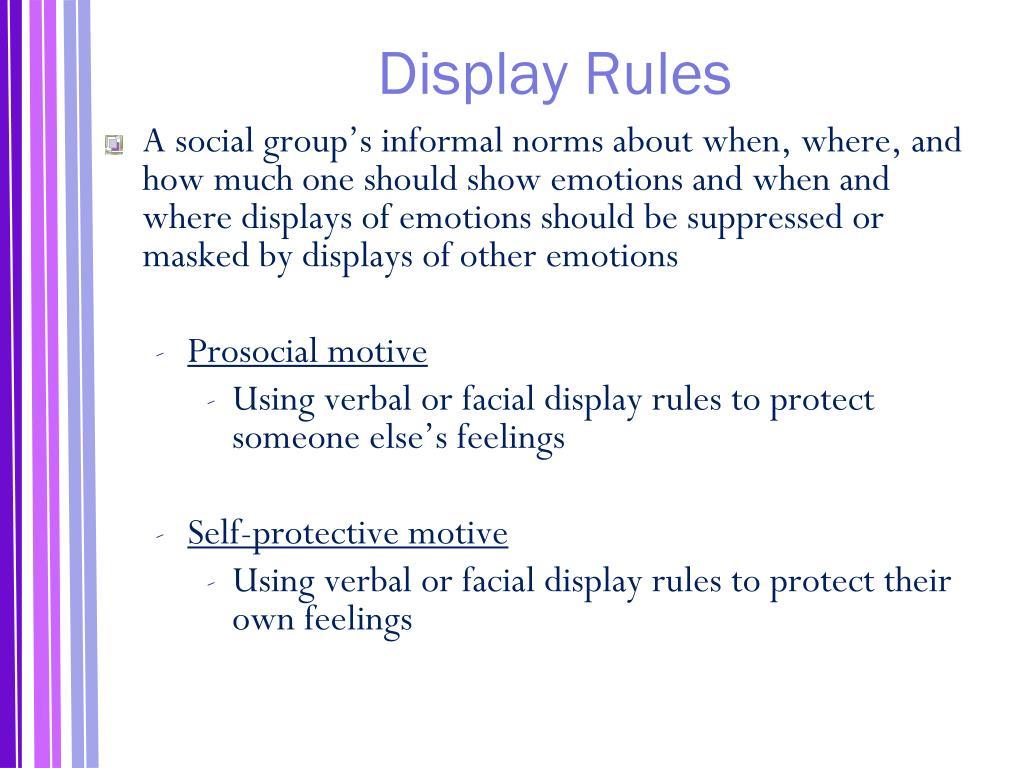 Display Rules
