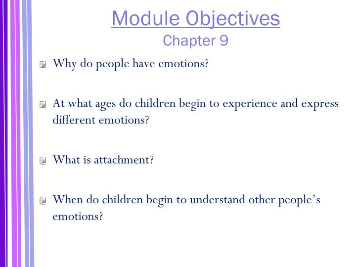 Module objectives chapter 9