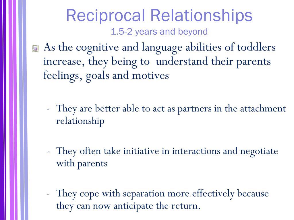 Reciprocal Relationships