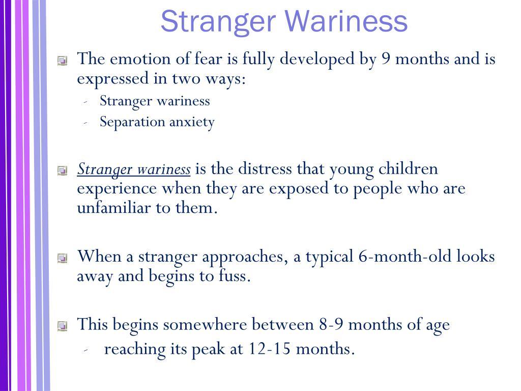 Stranger Wariness