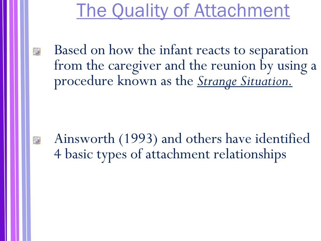 The Quality of Attachment