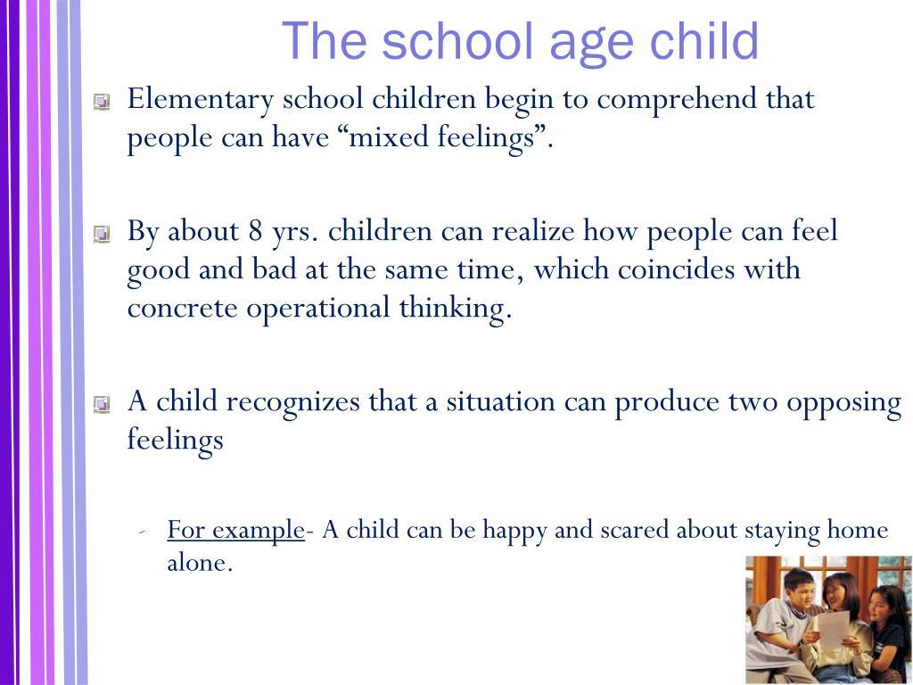The school age child