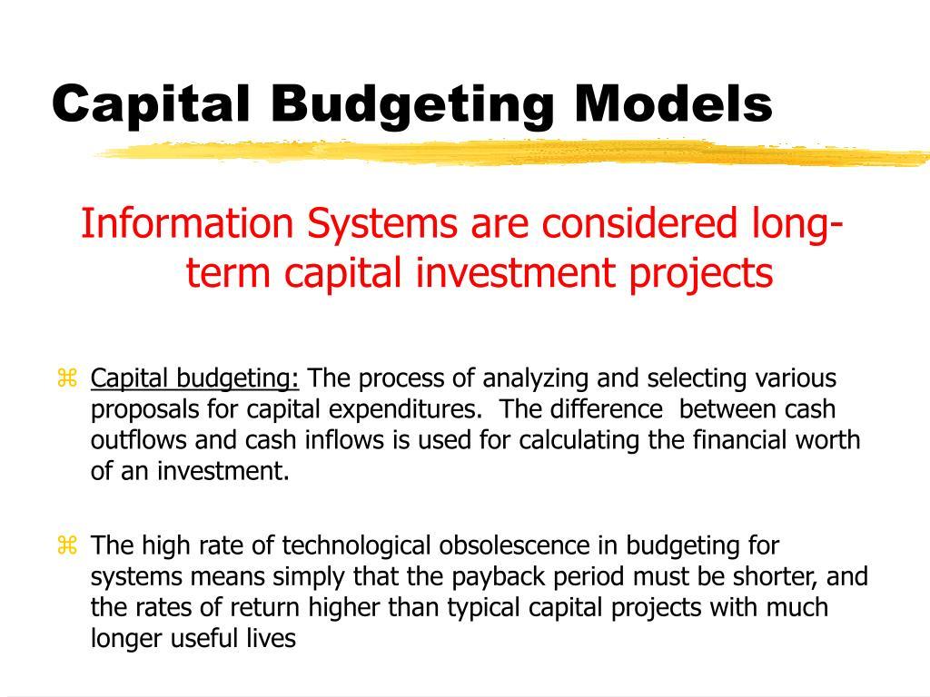 Capital Budgeting Models