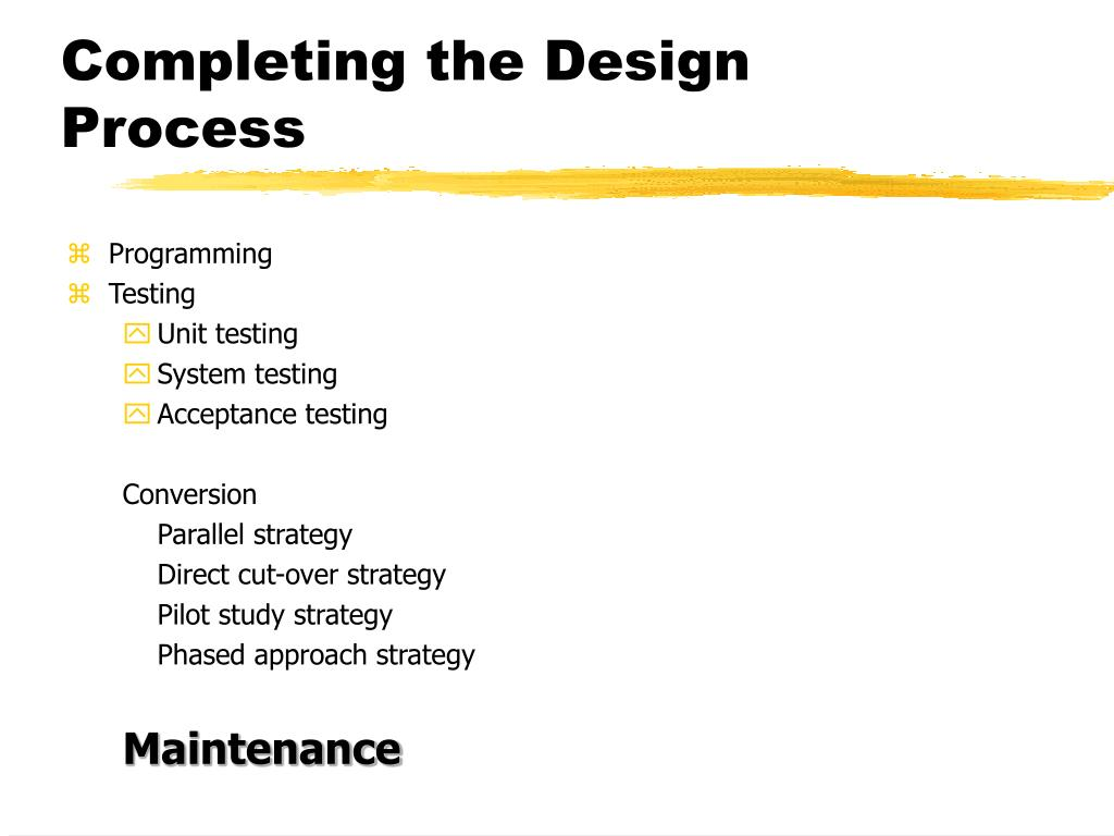 Completing the Design Process