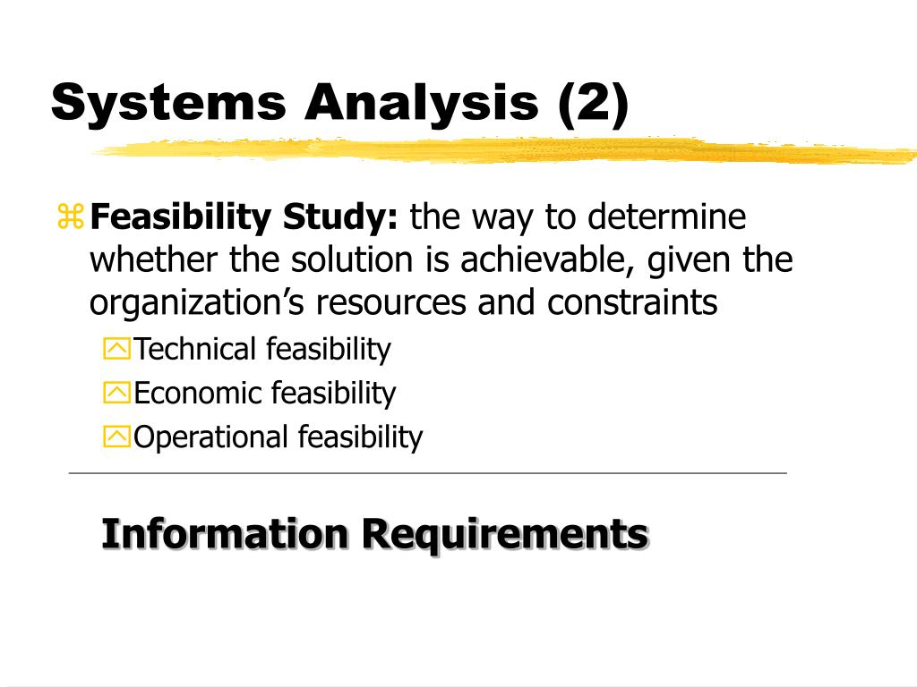 Systems Analysis (2)