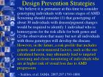 design prevention strategies