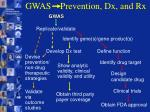 gwas prevention dx and rx