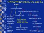 gwas prevention dx and rx13