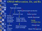 gwas prevention dx and rx21