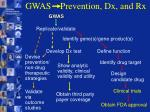 gwas prevention dx and rx23