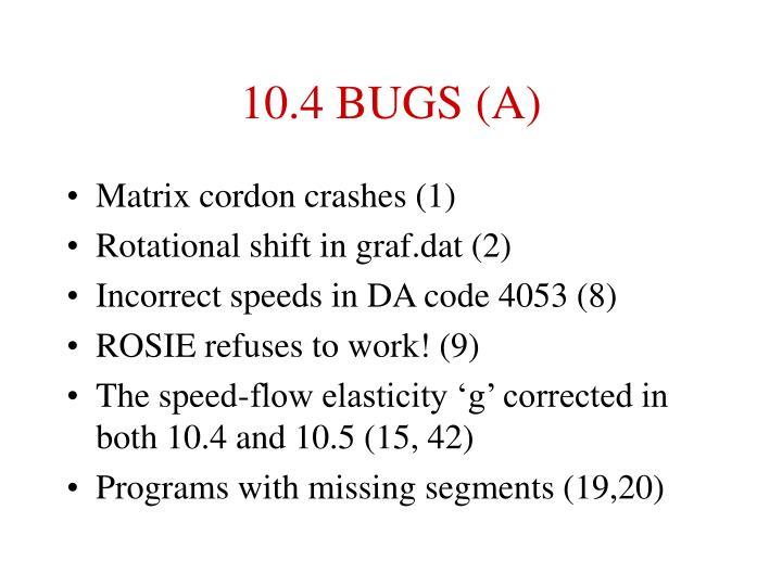 10 4 bugs a