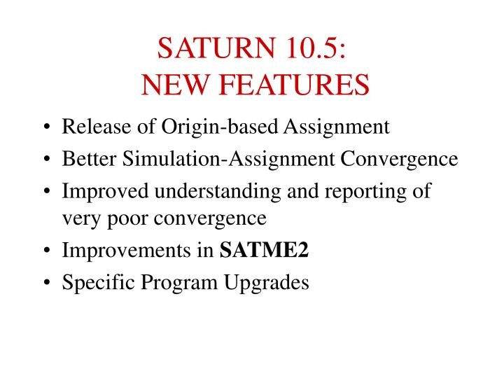 Saturn 10 5 new features