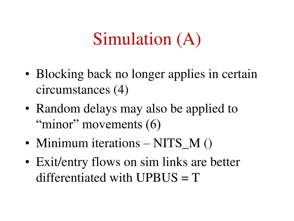Simulation (A)