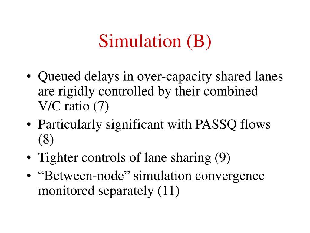 Simulation (B)