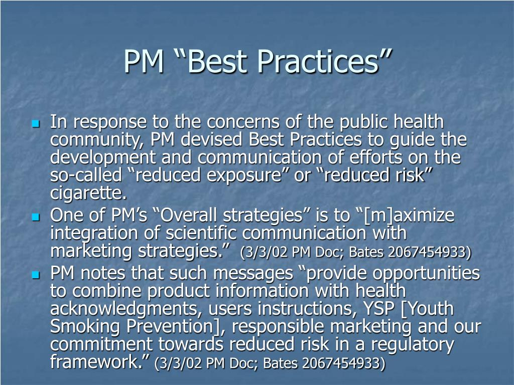 "PM ""Best Practices"""