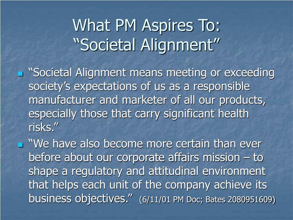 What PM Aspires To: