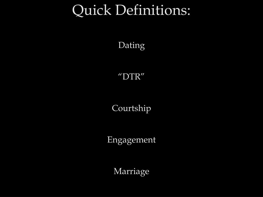 Quick Definitions: