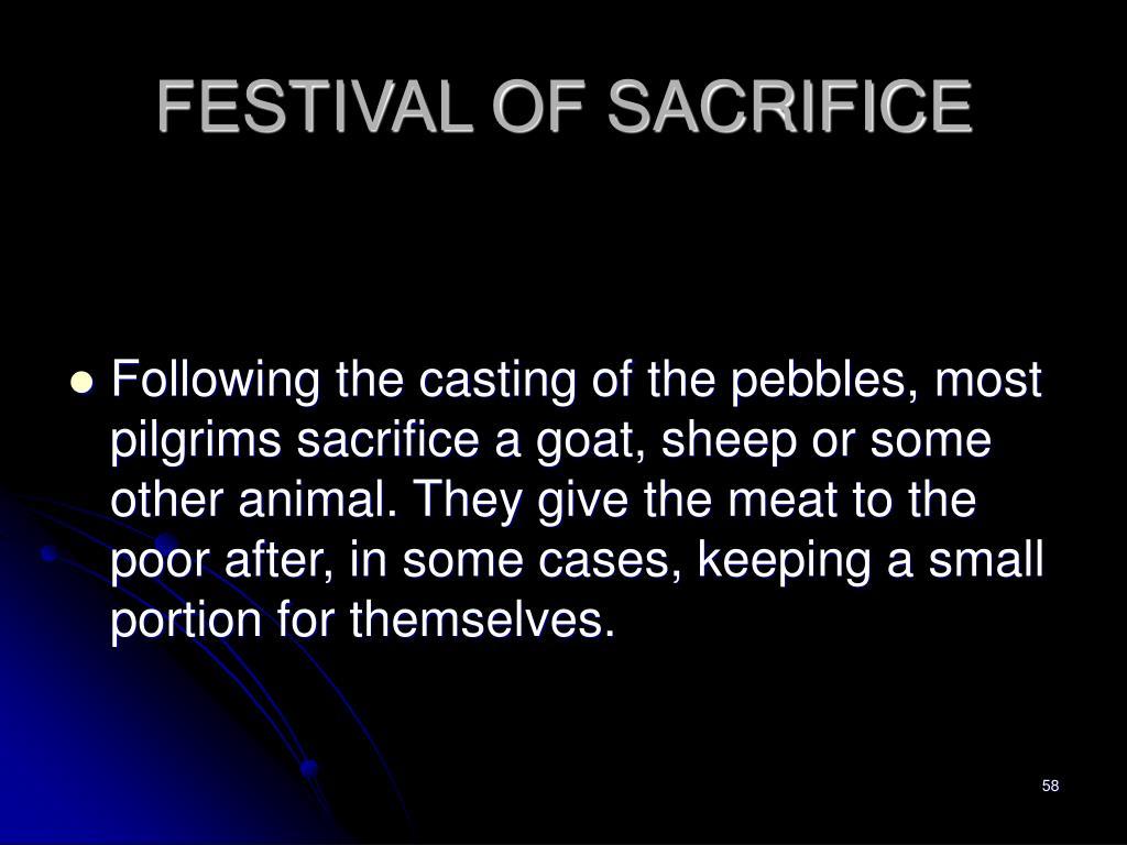 FESTIVAL OF SACRIFICE