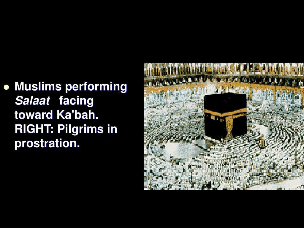 Muslims performing
