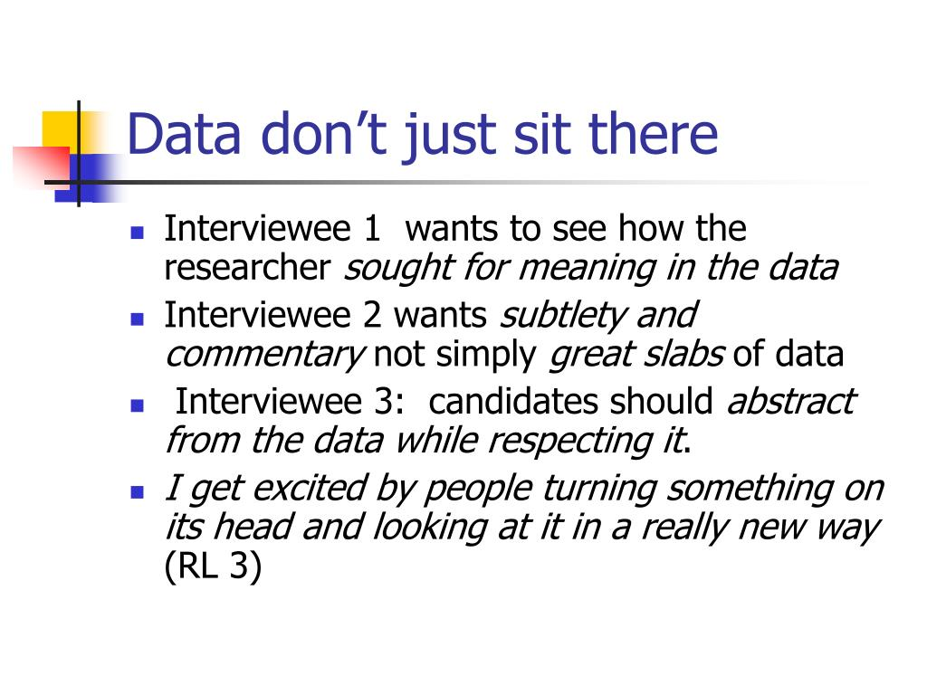 Data don't just sit there