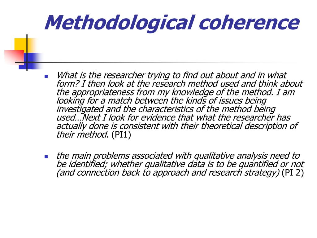 Methodological coherence
