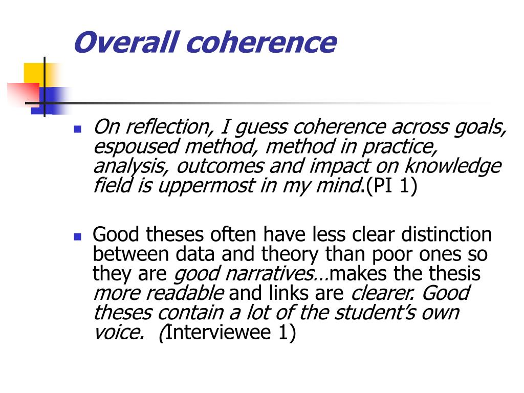 Overall coherence