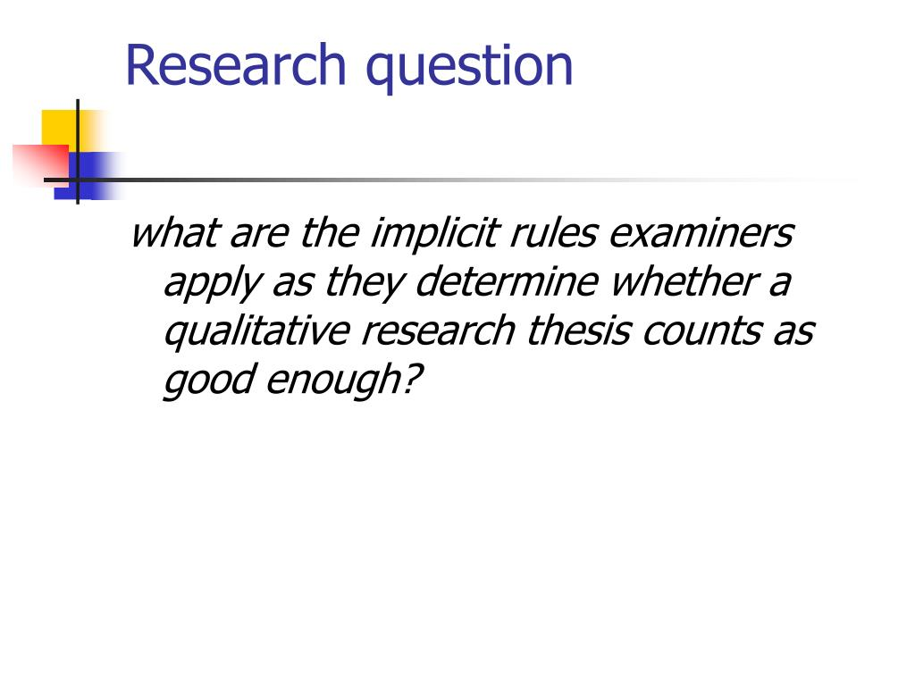 Research question