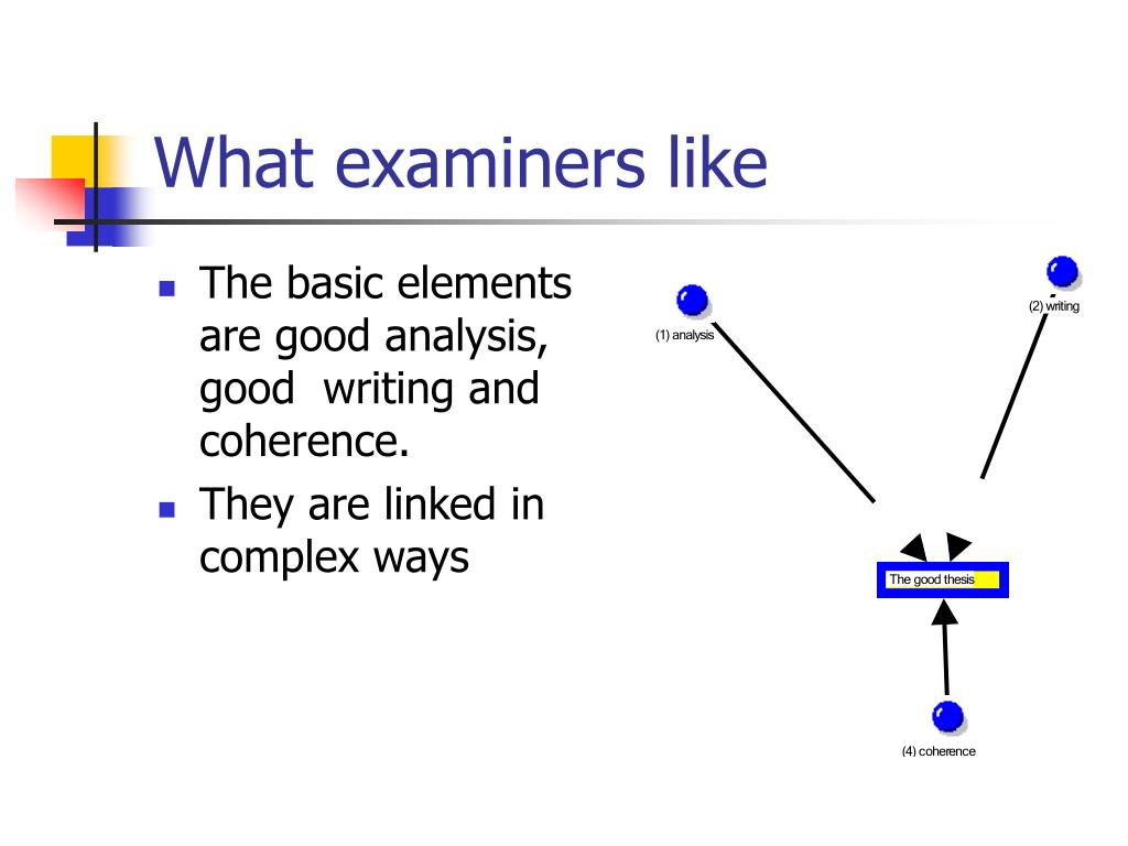 What examiners like