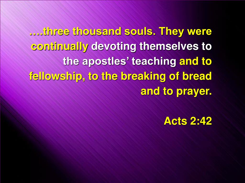 ….three thousand souls. They were continually