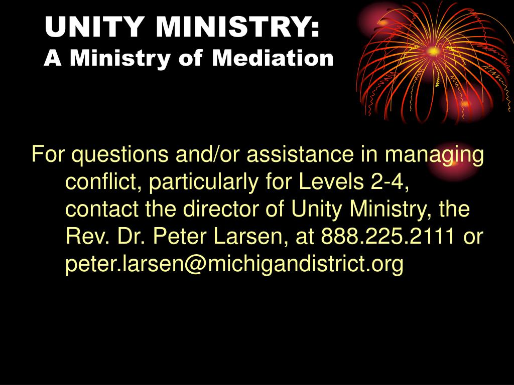 UNITY MINISTRY: