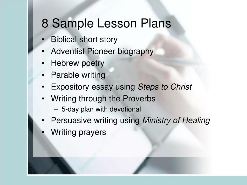 8 Sample Lesson Plans