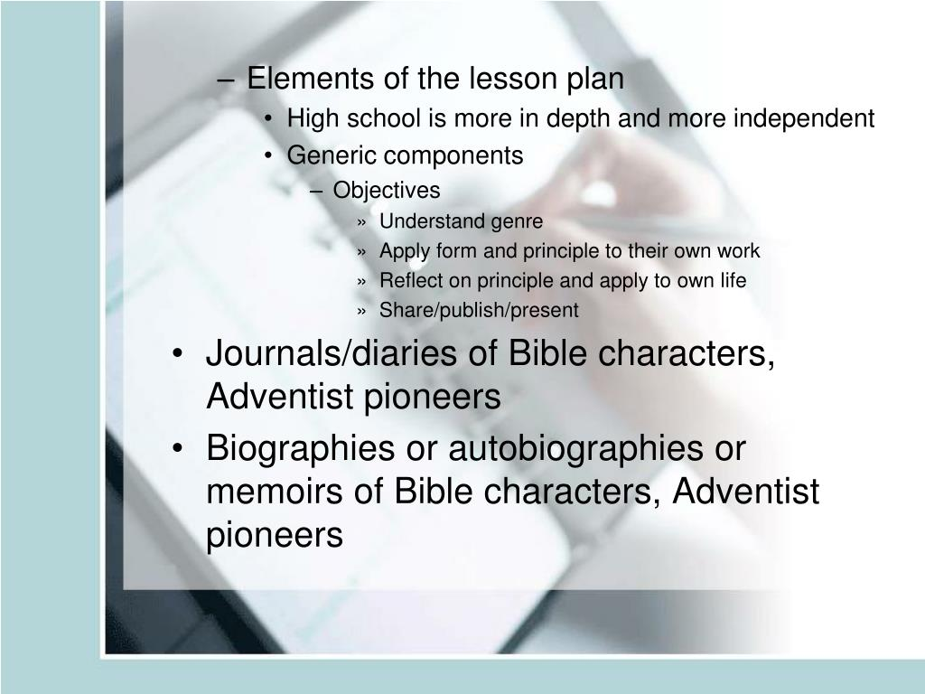 Elements of the lesson plan