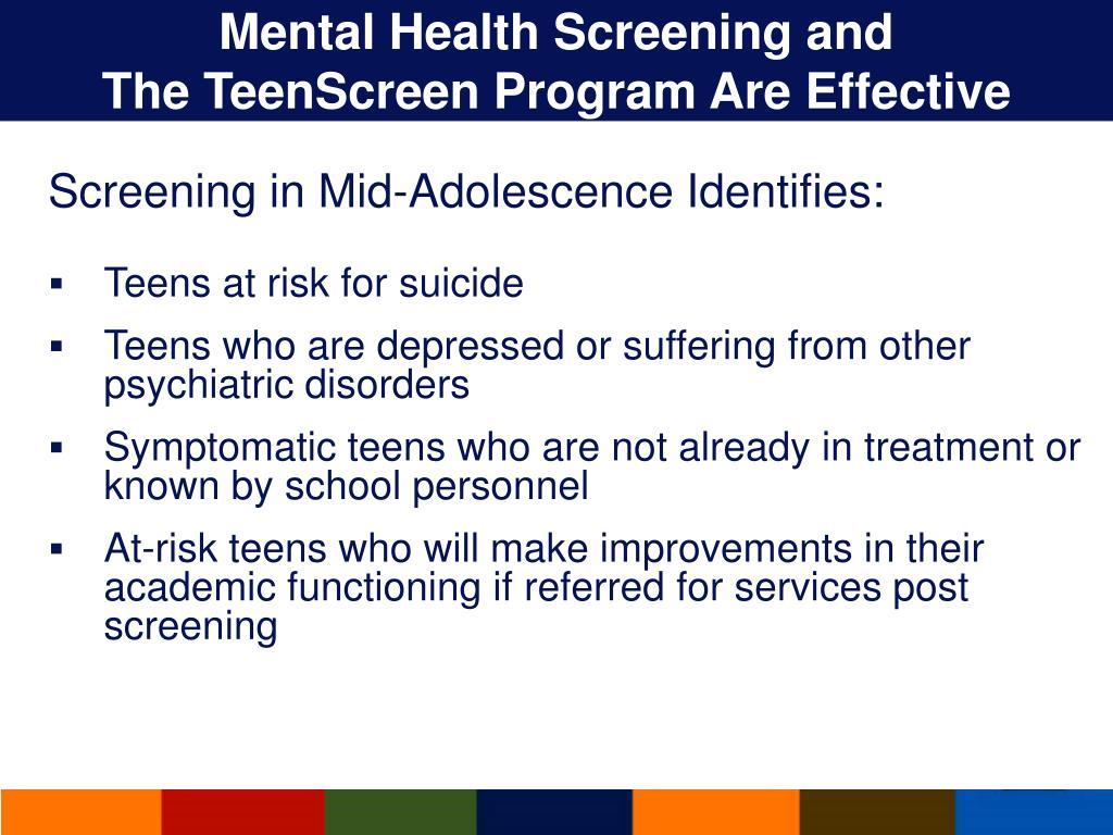 Mental Health Screening and