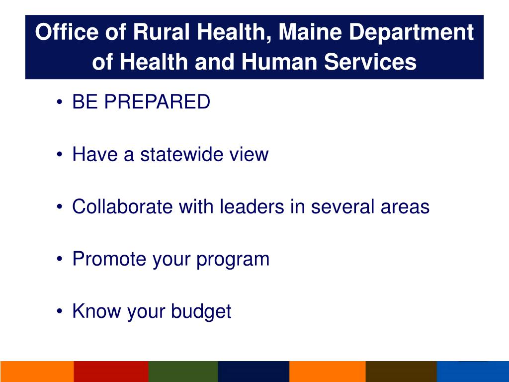 Office of Rural Health, Maine Department of Health and Human Services