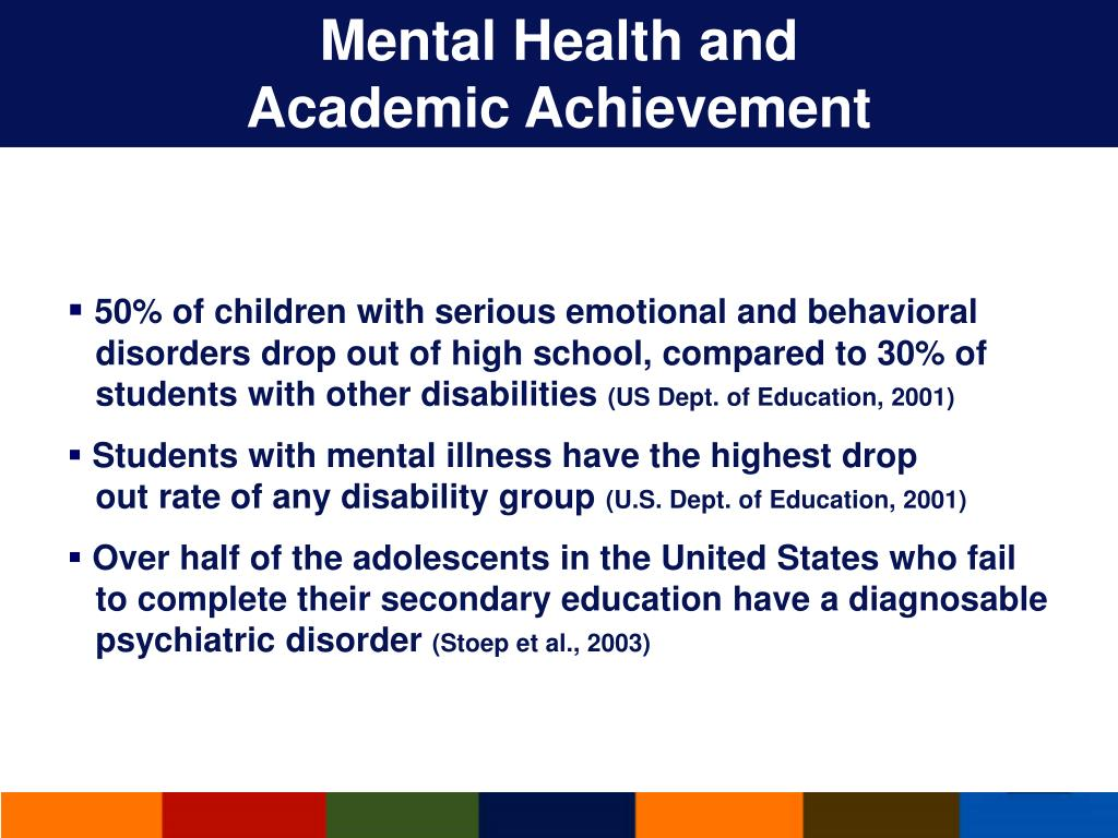 Mental Health and                             Academic Achievement